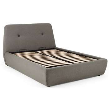 Edwin King Size Bed with Storage, Pavilion Marl Grey (H107 x W173 x D232cm)