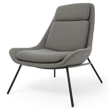 Eero Accent Chair, Flavio Grey (H97 x W81 x D96cm)