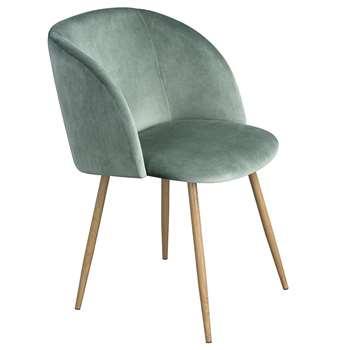 EGGREE - Mid-Century Modern Style Velvet Chair, Cactus Green (H81.5 x W47 x D52cm)