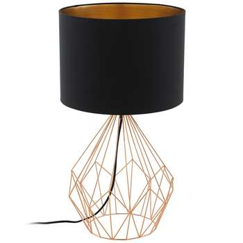 Eglo Pedregal Table Lamp Copper (H64.5 x W35 x D35cm)