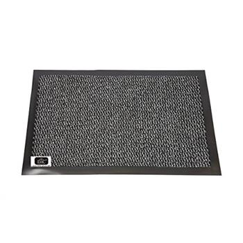 EHC Small Door Rubber Backed Barrier Mat, Grey/Black (40 x 60cm)