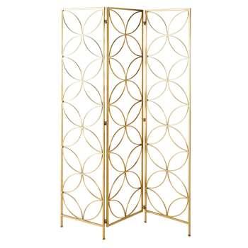 EILEEN Gold Metal Screen (180 x 121cm)