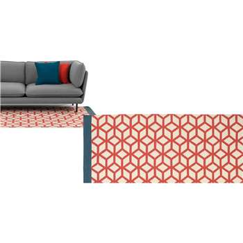 Eisa Large Eastern Inspired Geo Rug, Red (160 x 230cm)
