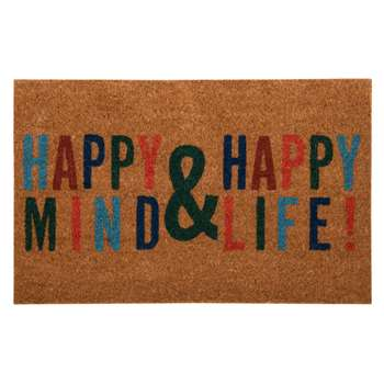 EJERE - Printed Multicoloured Coir Doormat (H45 x W75cm)