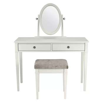 Eleanor Sable Dressing Table Mirror & Stool Set (78 x 110cm)