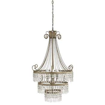 ÉLÉONORE metal droplet chandelier in grey D 69cm