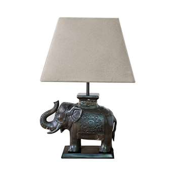 Elephant Desk Lamp, Bronze (20 x 24cm)