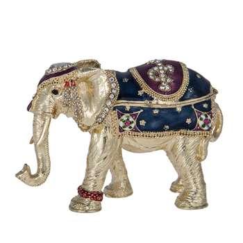 Elephant Jewelled Box (8 x 6cm)