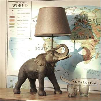 Elephant Table Lamp (H69 x W52.5 x D23cm)