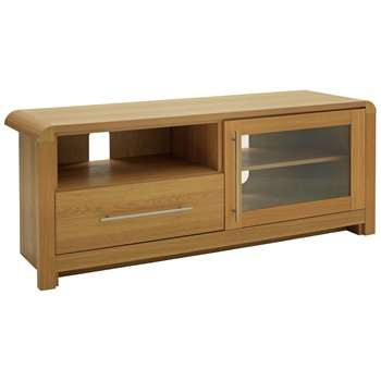 Argos Home Elford TV Unit - Oak Effect (H53 x W130 x D41cm)