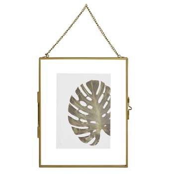 ELIE Gold Metal and Glass Hanging Photo Frame (H26 x W22cm)