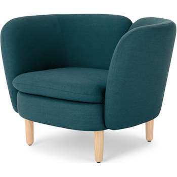 Elio Accent Chair, Breeze Teal Weave (H71 x W93 x D80cm)