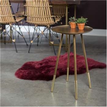 Eliot Side Table with Dip-Dyed Brass Feet (59 x 37cm)