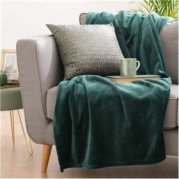 ELISE Emerald Green Fabric Throw (130 x 180cm)