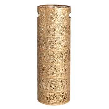 ELISEO - Matte Gold Carved Metal Umbrella Holder (H56 x W20 x D20cm)