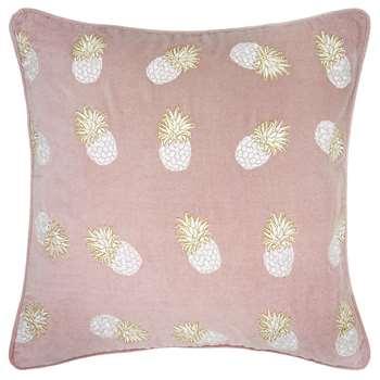 Elizabeth Scarlett - Ananas Velvet Cushion - Mauve (45 x 45cm)