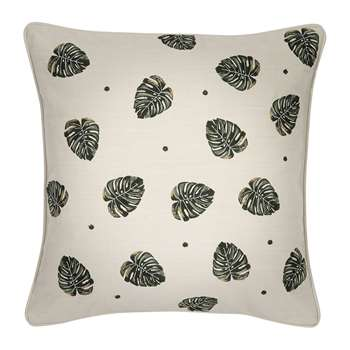 Elizabeth Scarlett - Jungle Leaf Cushion - Natural (45 x 45cm)