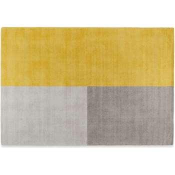 Elkan Wool Tufted Rug, Large, Block Mustard (H160 x W230cm)