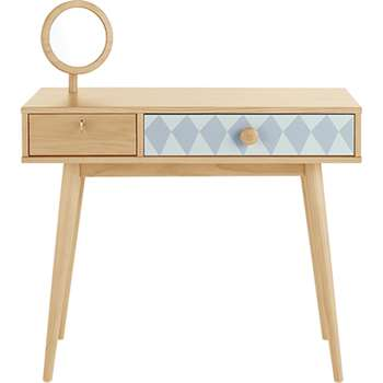 Ella Dressing Table, Blue and Pine (106 x 95cm)