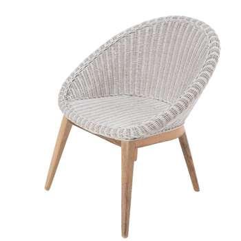 Ella James White Woven Tub Chair (77 x 65cm)