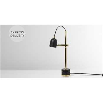Ellieday Light Table Lamp, Black & Brass (H41 x W15 x D15cm)