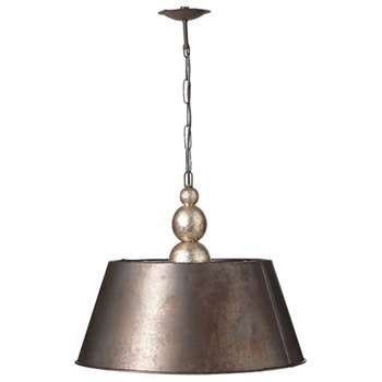 Ellington Hanging Lamp - Antique Black/Silver (41 x 50cm)
