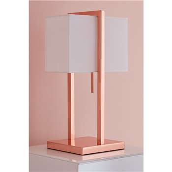 Ellington Rose Gold Table Light (H52 x W30 x D22cm)