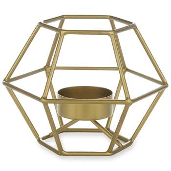 Elodie Hexagonal Tealight Holder (H8 x W11.5 x D11.5cm)
