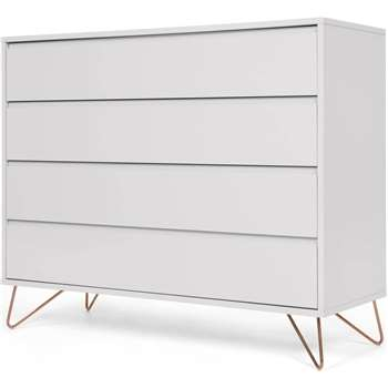 Elona chest of drawers, grey and copper (100 x 120cm)