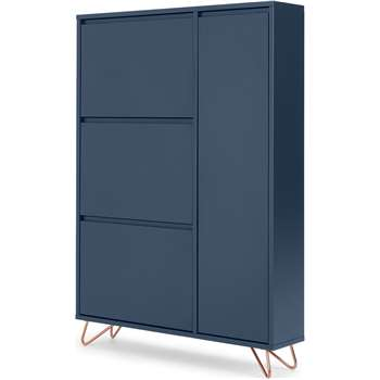 Elona shoe storage, Dark Blue and Copper (H130 x W90 x D20cm)