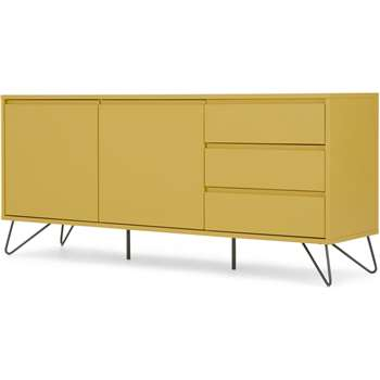 Elona Sideboard, Yellow and charcoal (H7 x W160 x D40cm)