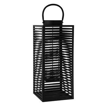 ELVA metal lantern in black (61 x 25cm)