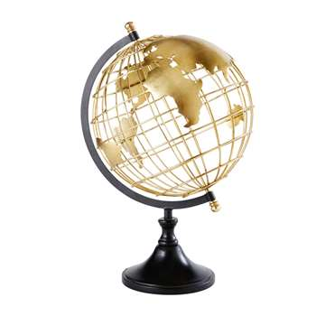 ELVIS Black and Gold Metal Globe