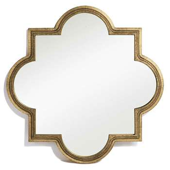 Emas Design Mirror Brass (H90 x W90cm)