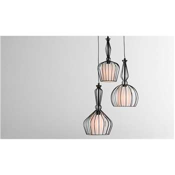 Emeline Cluster Light, Matt Black (100 x 30cm)