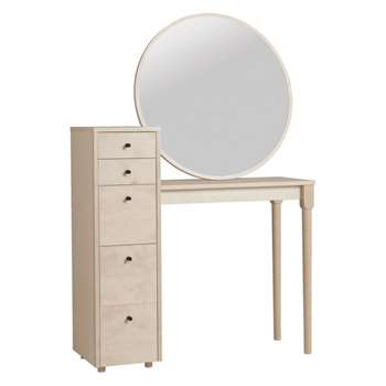 Emil Birch dressing table with storage (Width 95.3cm)