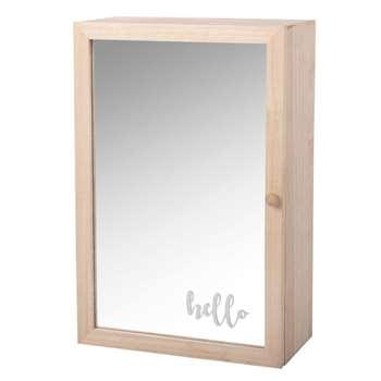 EMMY - 1-Door Mirror with Storage (H35 x W23 x D12cm)