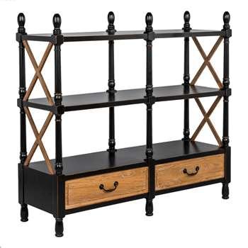 Empire Low Double Bookcase (125 x 135cm)