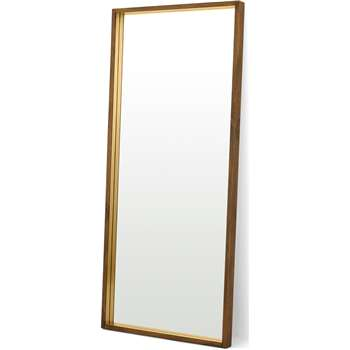 Emsworth Full Length Leaning Mirror, Extra Large, Mango Wood & Brass (H180 x W80 x D6cm)