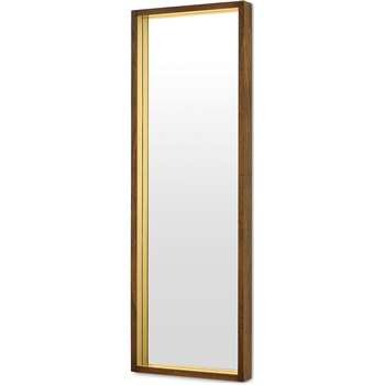 Emsworth Full Length Mirror, Mango Wood & Brass (H120 x W40 x D6cm)