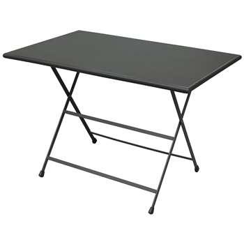 EMU Arc En Ciel Rectangular 4 Seater Outdoor Dining Tables - Iron  74 x 70cm