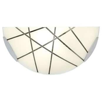 Endon Crosby Wall Light Satin Nickel (H15 x W30.5 x D8.5cm)