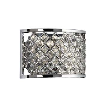 Endon Hudson 2 Light Wall Light Polished Chrome (H15 x W25.2 x D103cm)