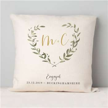 Engagement Gift Botanical Cushion (H40 x W40cm)