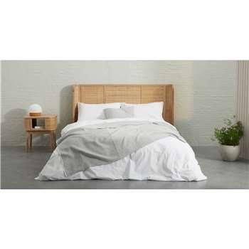 Enya 100% Organic Cotton  Cushion, Warm Grey (H50 x W50cm)