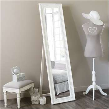 ENZO cheval mirror in white H 164cm