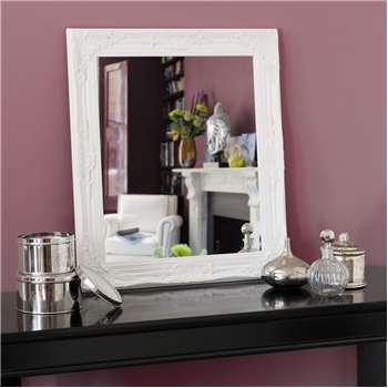 Enzo mirror, white 73 x 63cm
