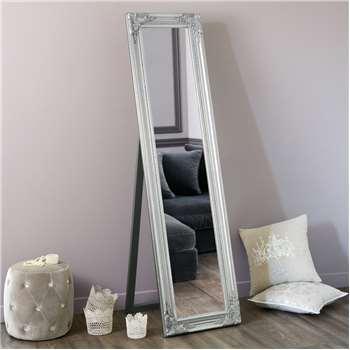 ENZO silver cheval mirror H 164 cm