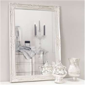 ENZO wooden mirror in silver H 104cm