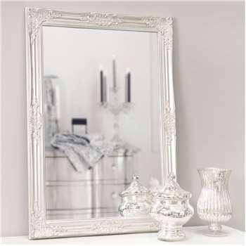 ENZO - Pine and Paulownia Silver Mirror (H104 x W74cm)